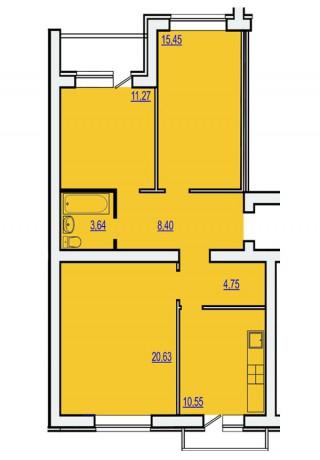 3-х секционный 5-ти этажный ж.д. со встроенными нежилыми пом.